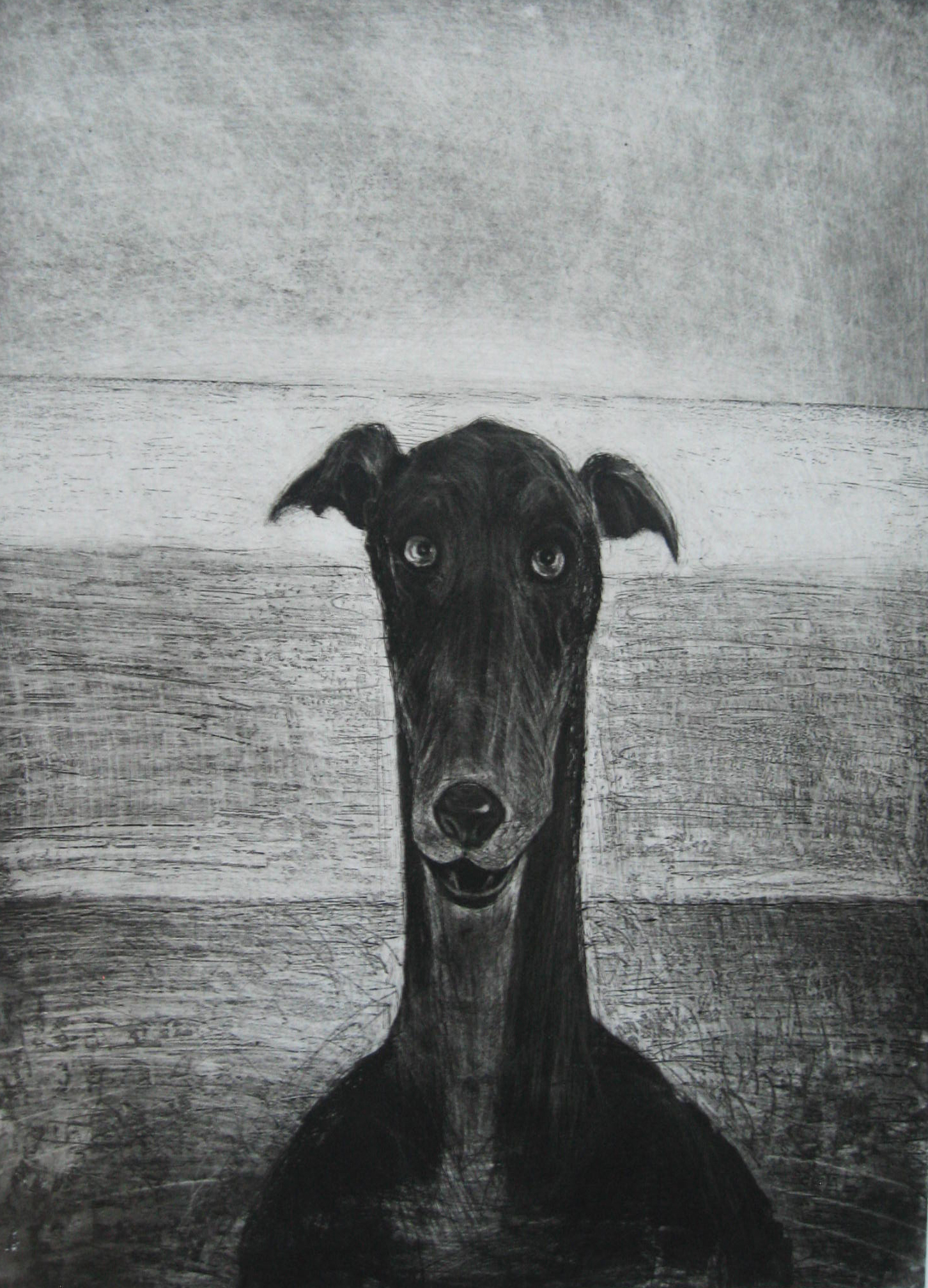 Hound Head, Etching