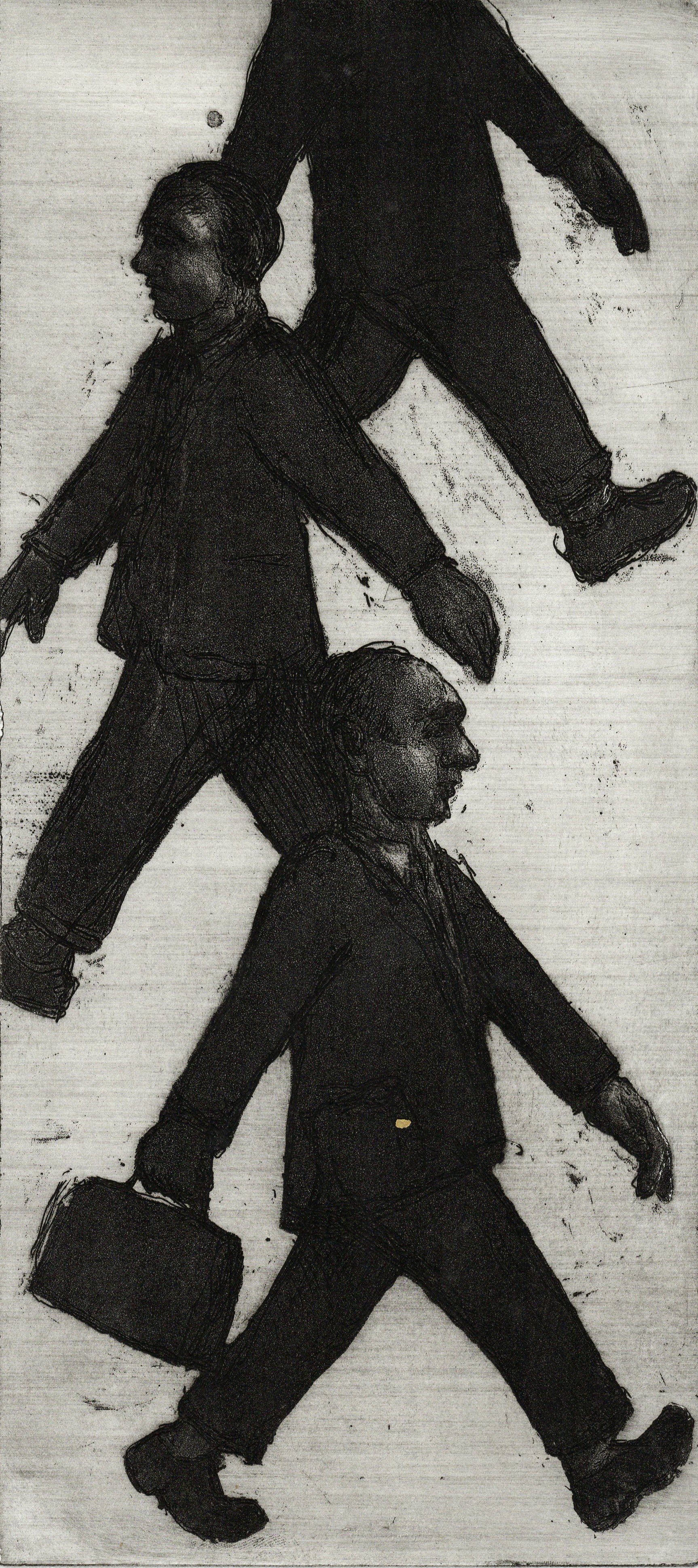 Walking, Etching