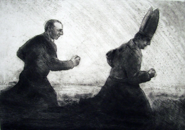 Chasing the Bishop, Etching