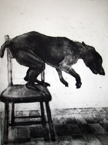 Black Dog, Etching