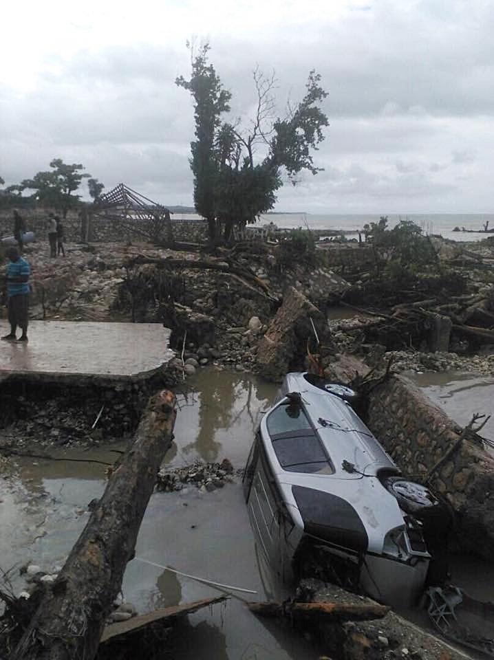 Aftermath from Hurricane Matthew.
