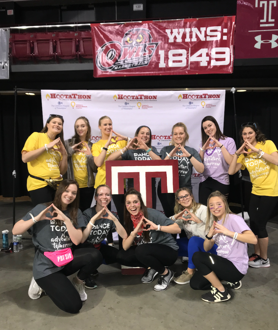 Phi Sig participating in Hootathon for the kids