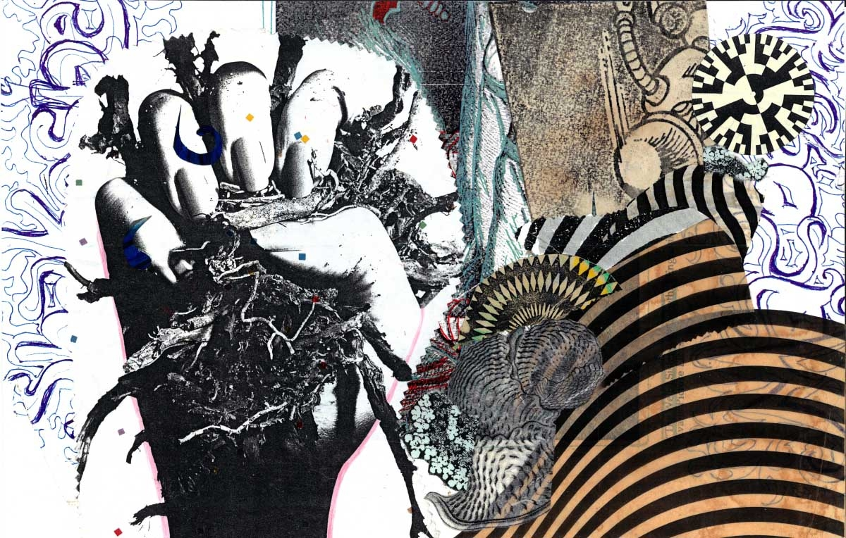 XK, 2   10 x 16in.  Collage, Montage