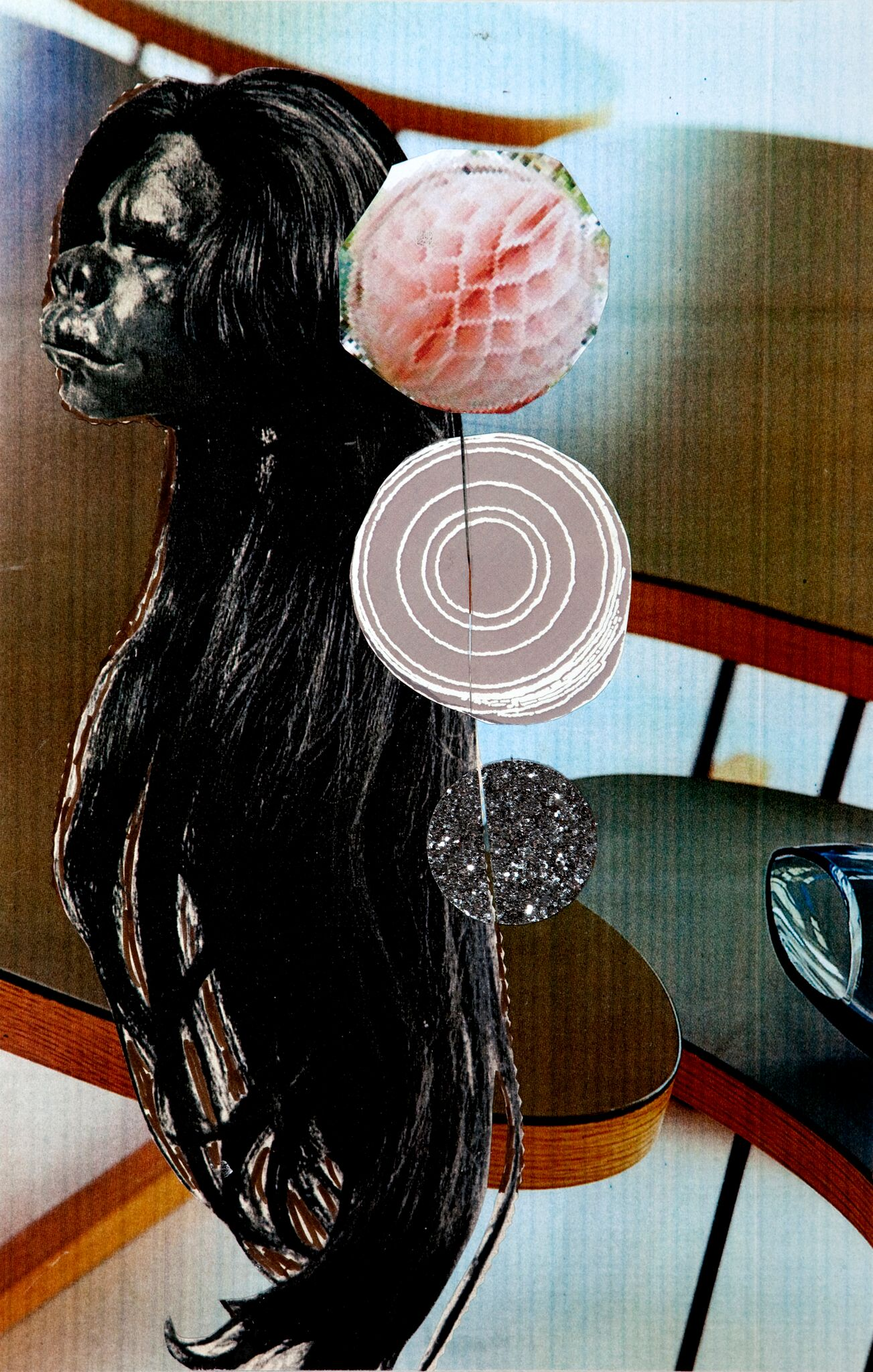 I forgot   18 X 12in.  collage/montage