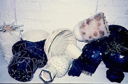 Small Works by Big Thinkers NYC, 1990  found objects, silicone, acrylic paint, caulk, shelf