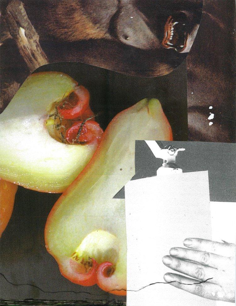 """Gorilla  13 X 8""""  collage, archival paper"""