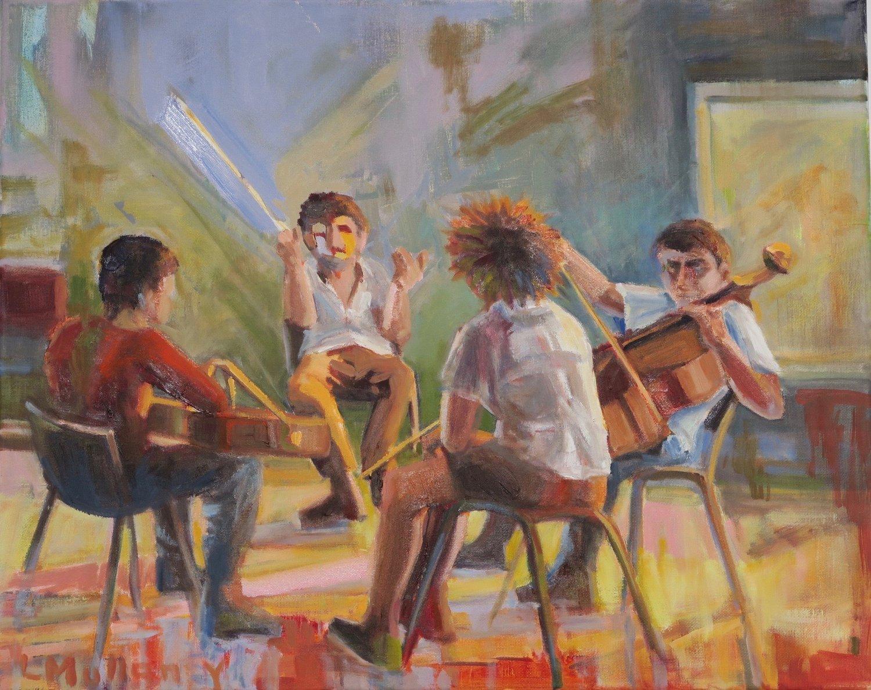 Musica, oils, 16 x 20