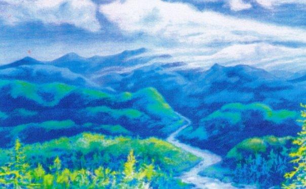 River Run, watercolor, 18 x 24
