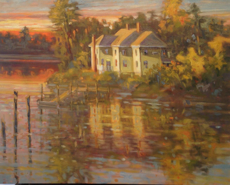 Chancey Creek, oils, 20 x 20