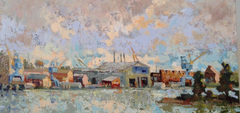 Cloudy Skies, oil, 16 x 20