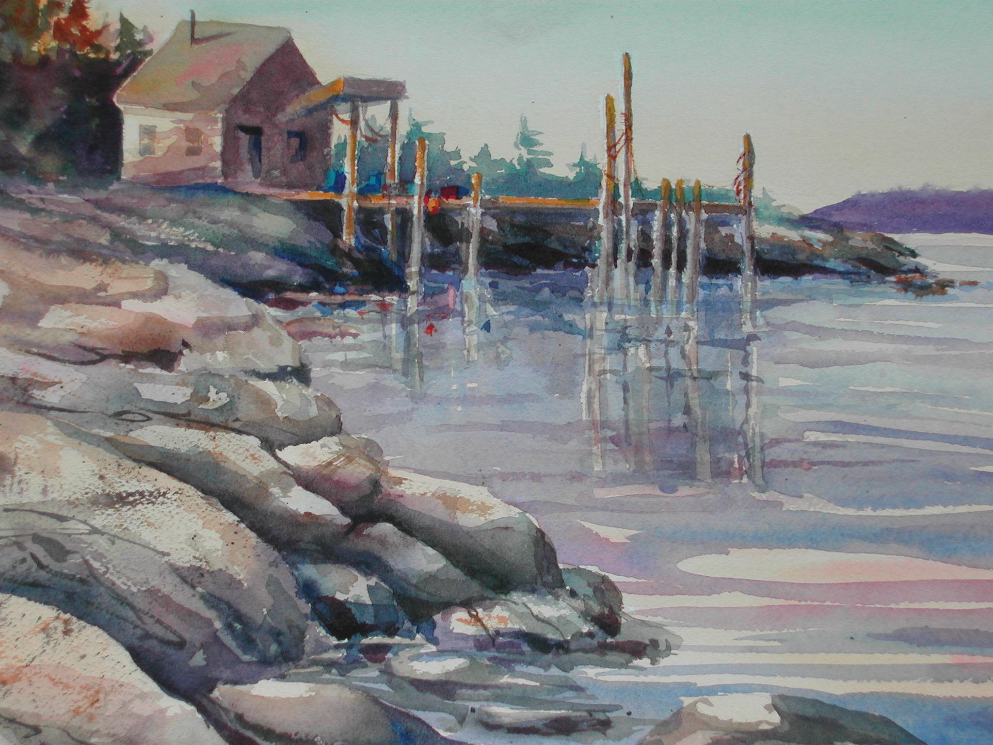 Lowell Cove, watercolor, 11 x 15