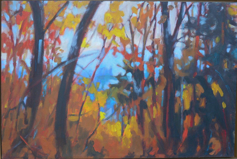 Franconia Ridge, oil, 18 x 24