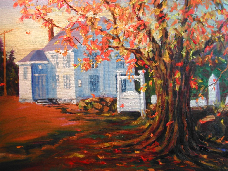 Harpswell Center, pastel, 12 x 16