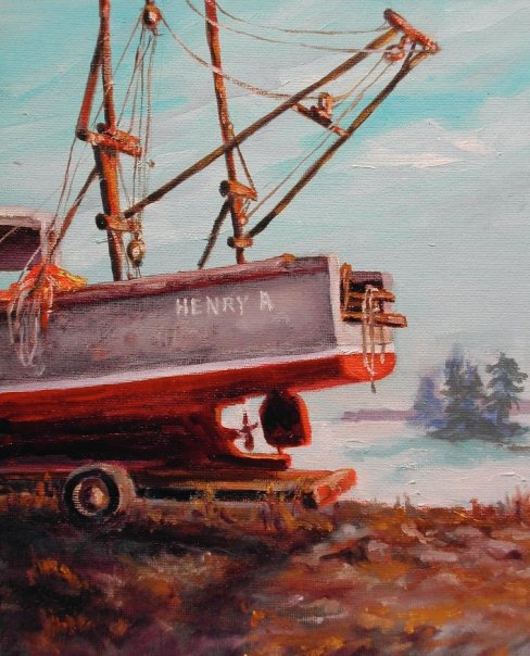 Henry A, acrylic, 9 x12