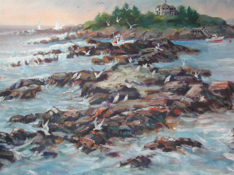Land's End, watercolor, 11 x 15