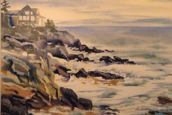 Driftwood Inn, watercolor, 11 x 15