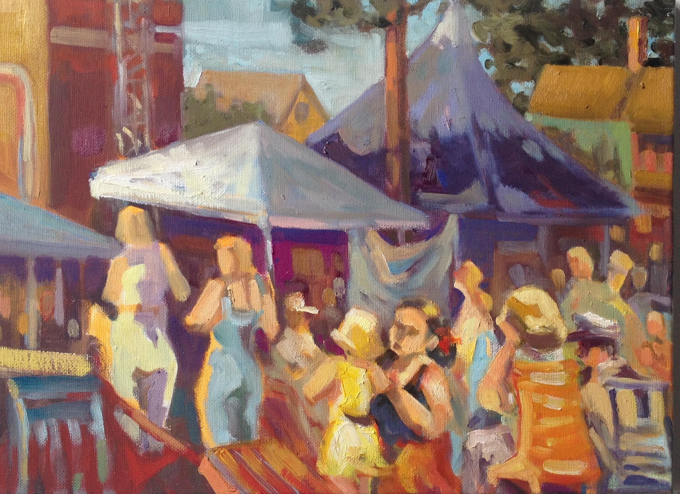 Ladies in Waiting, oil, 12 x 14
