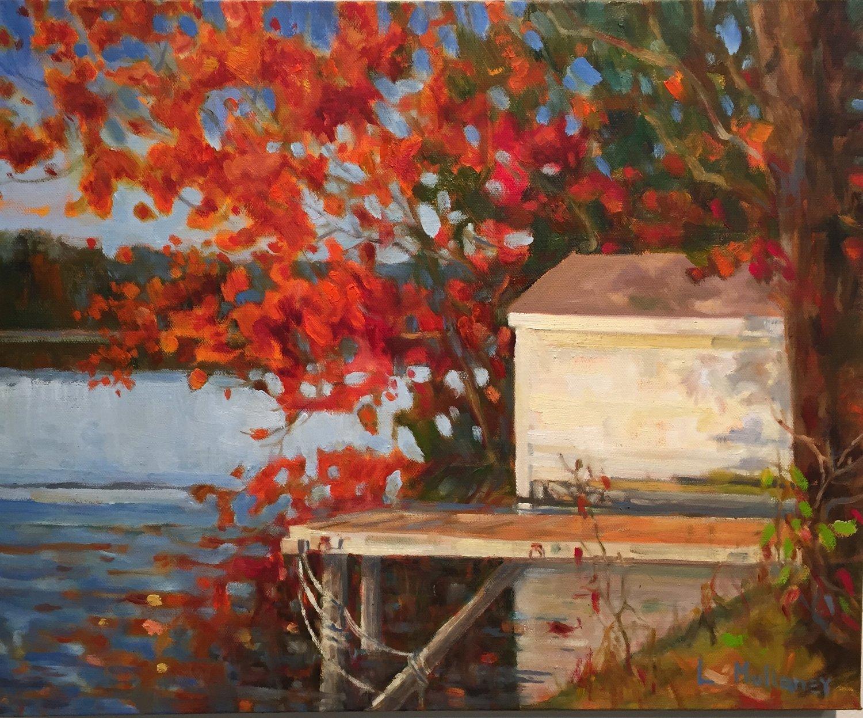 Lonesome Lake, oils, 16 x 20
