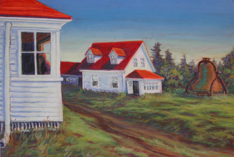 Monhegan Bell, pastel, 11 x 15