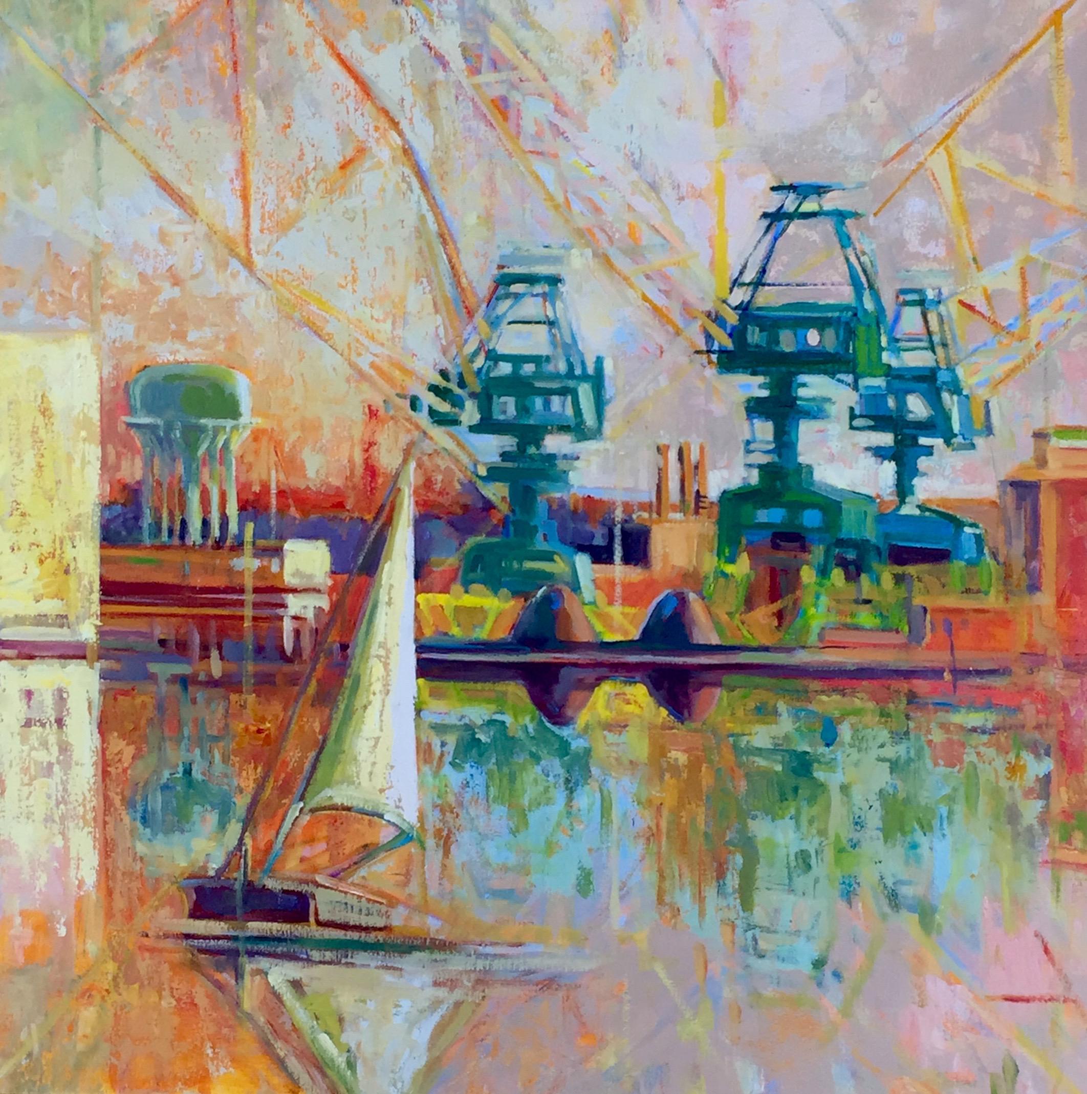 Port to Portal, oils, 32 x 32