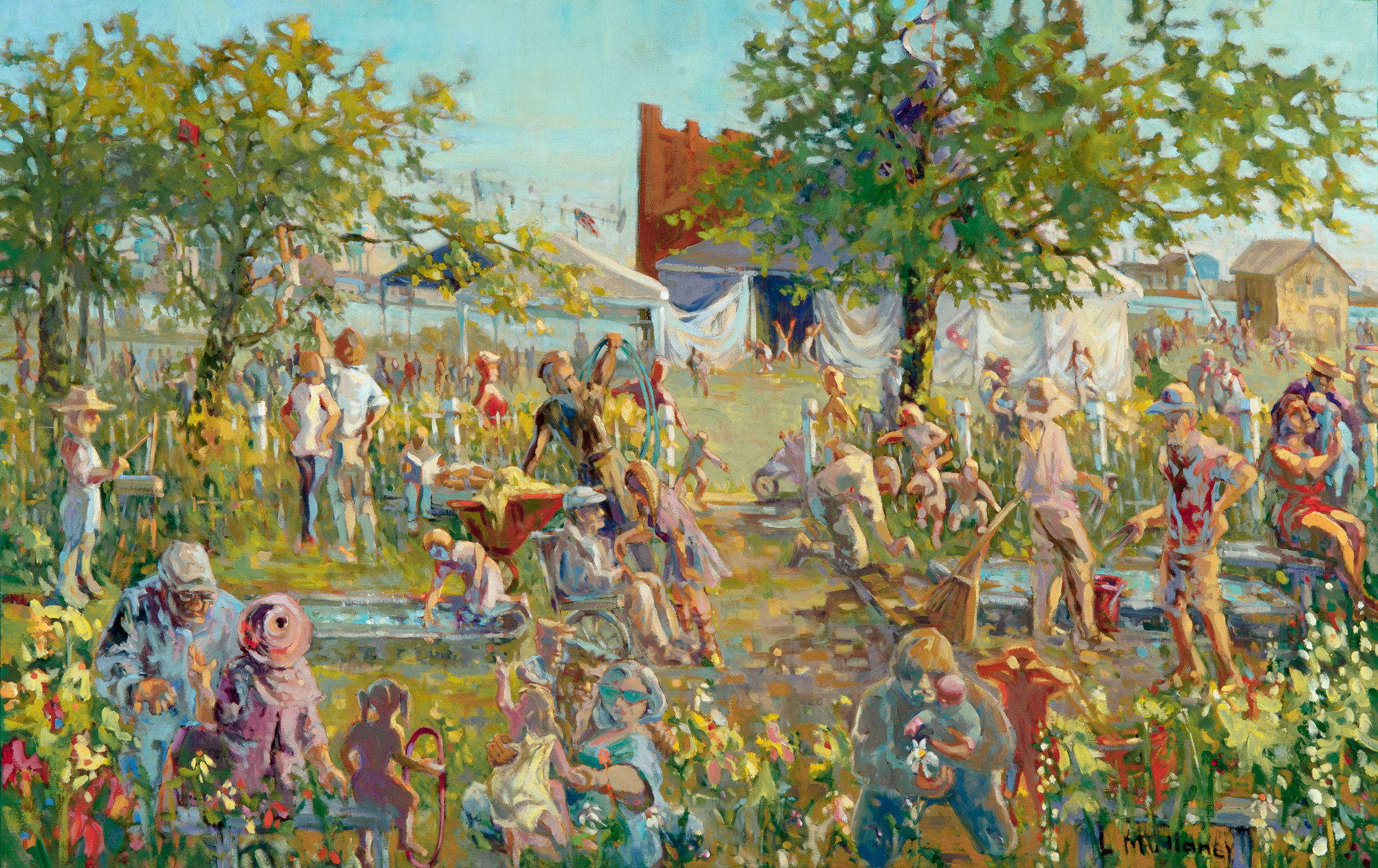 Prescott Players, oils, 60 x 40