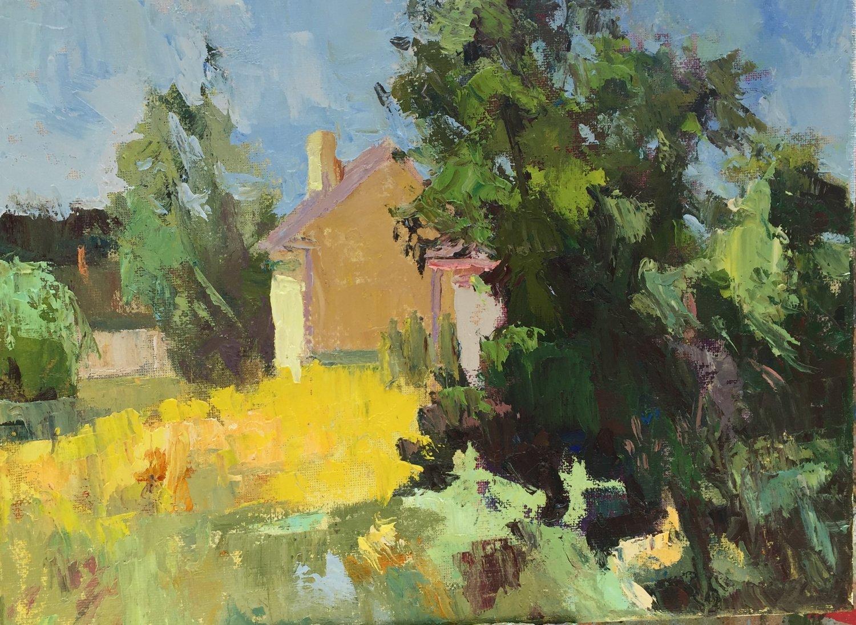 Sanctuary Arts, oils, 9 x 12