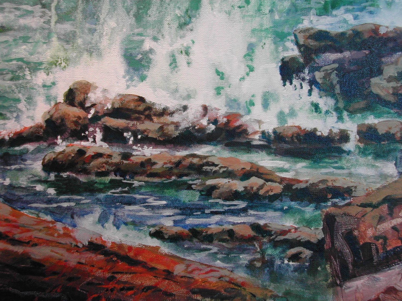 The Wave, acrylic, 9 x 12