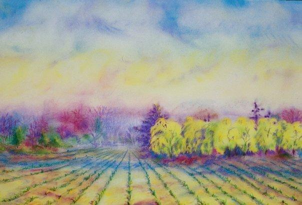 Spring Planting, pastel, 18 x 24