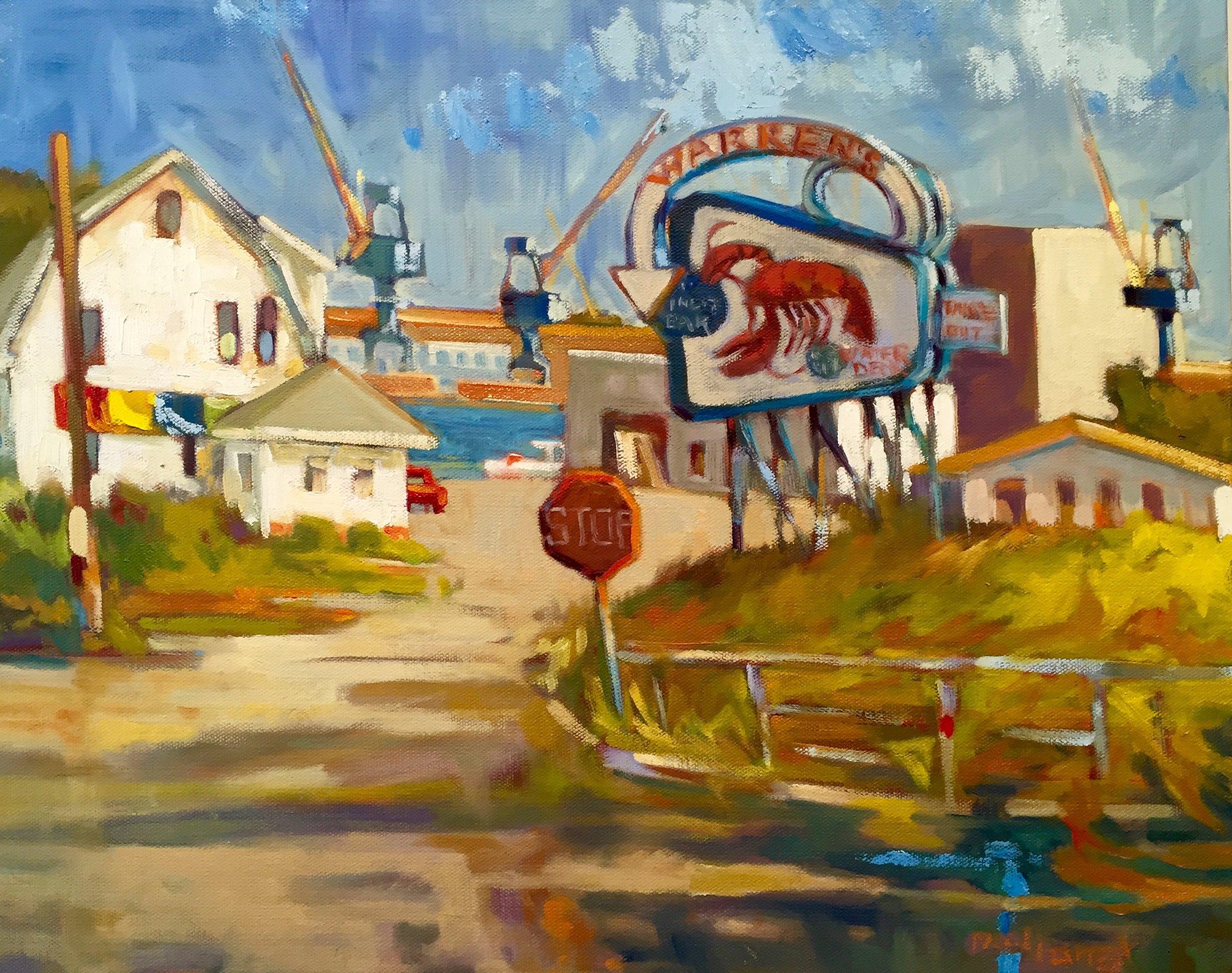 Stop at Warren's, oils, 16 x 20