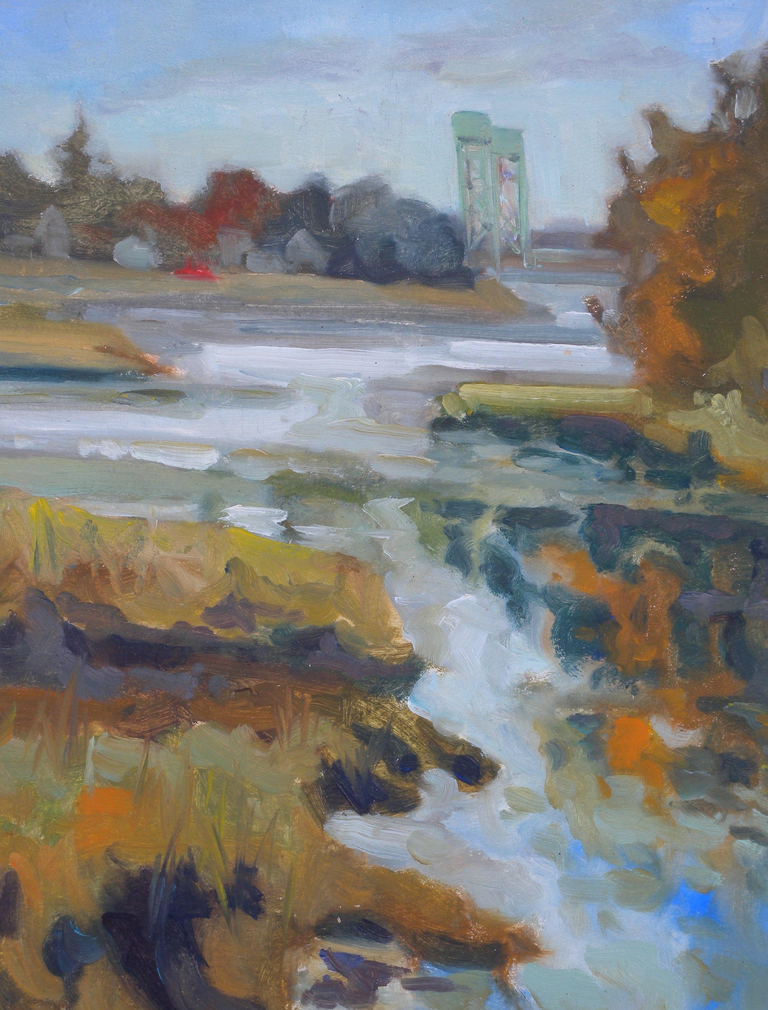 Sarah Long study, oil, 12 x 14