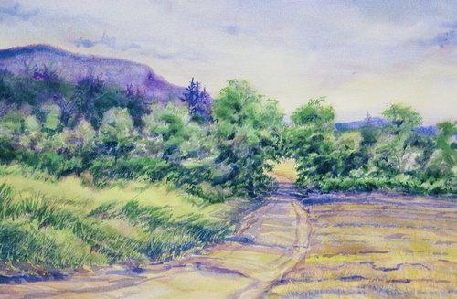 Rosedale Farm, watercolor, 18 x 24