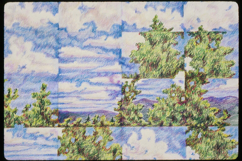 Cloud Scape, colored pencil, 18 x 24