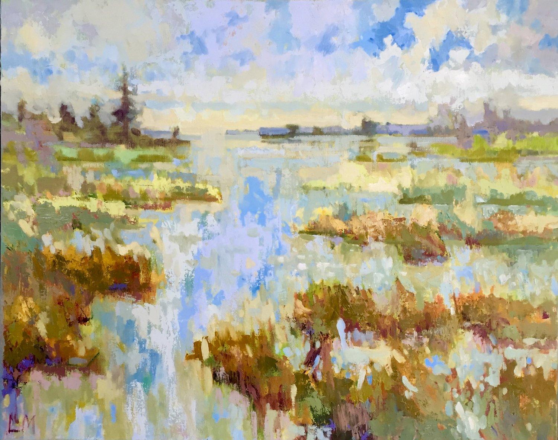 Tidal Marsh, oils, 32 x 26