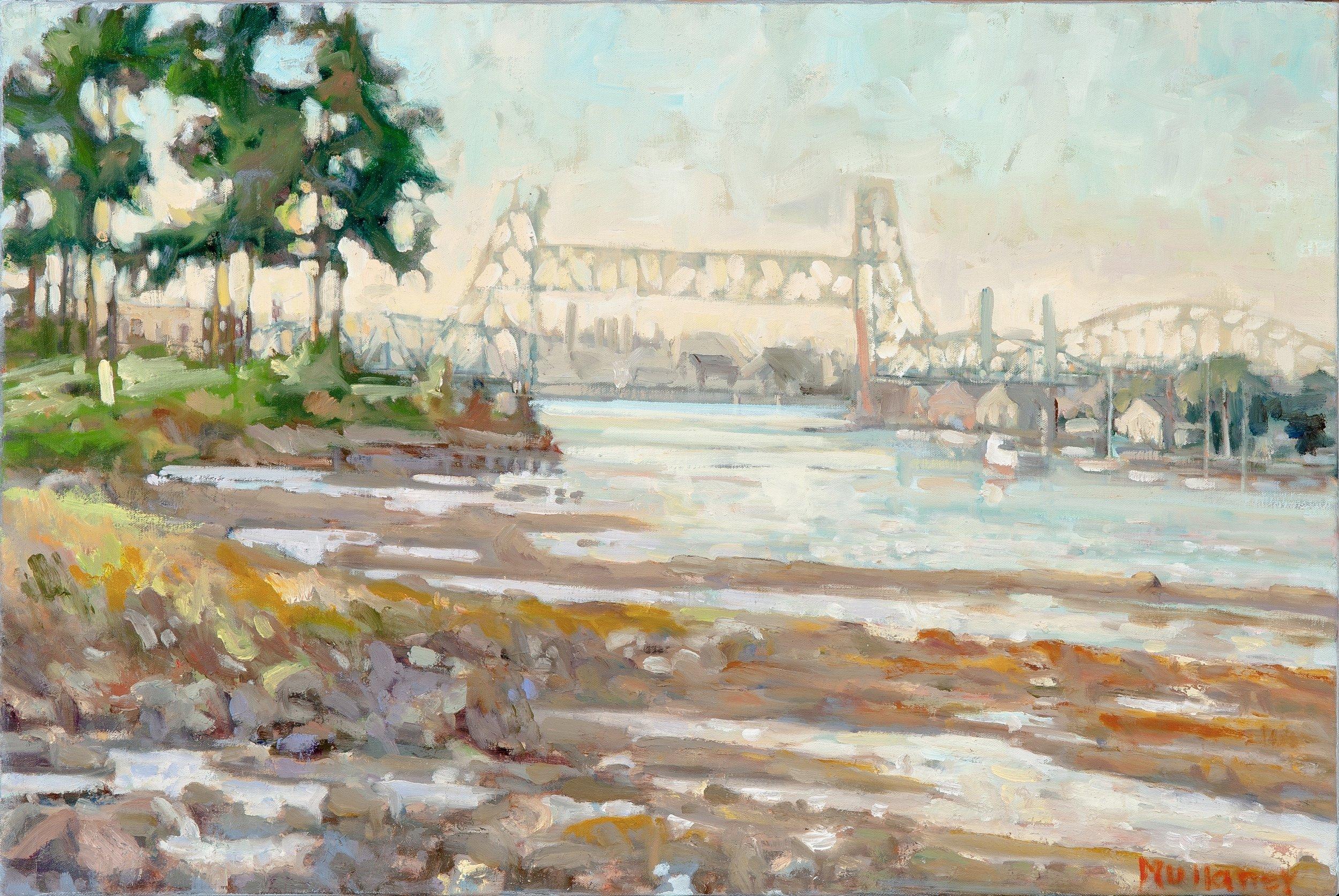 Three Bridges, oils, 30 x 22