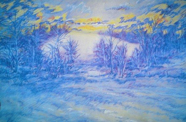Winter Solstice, pastel, 18 x 24