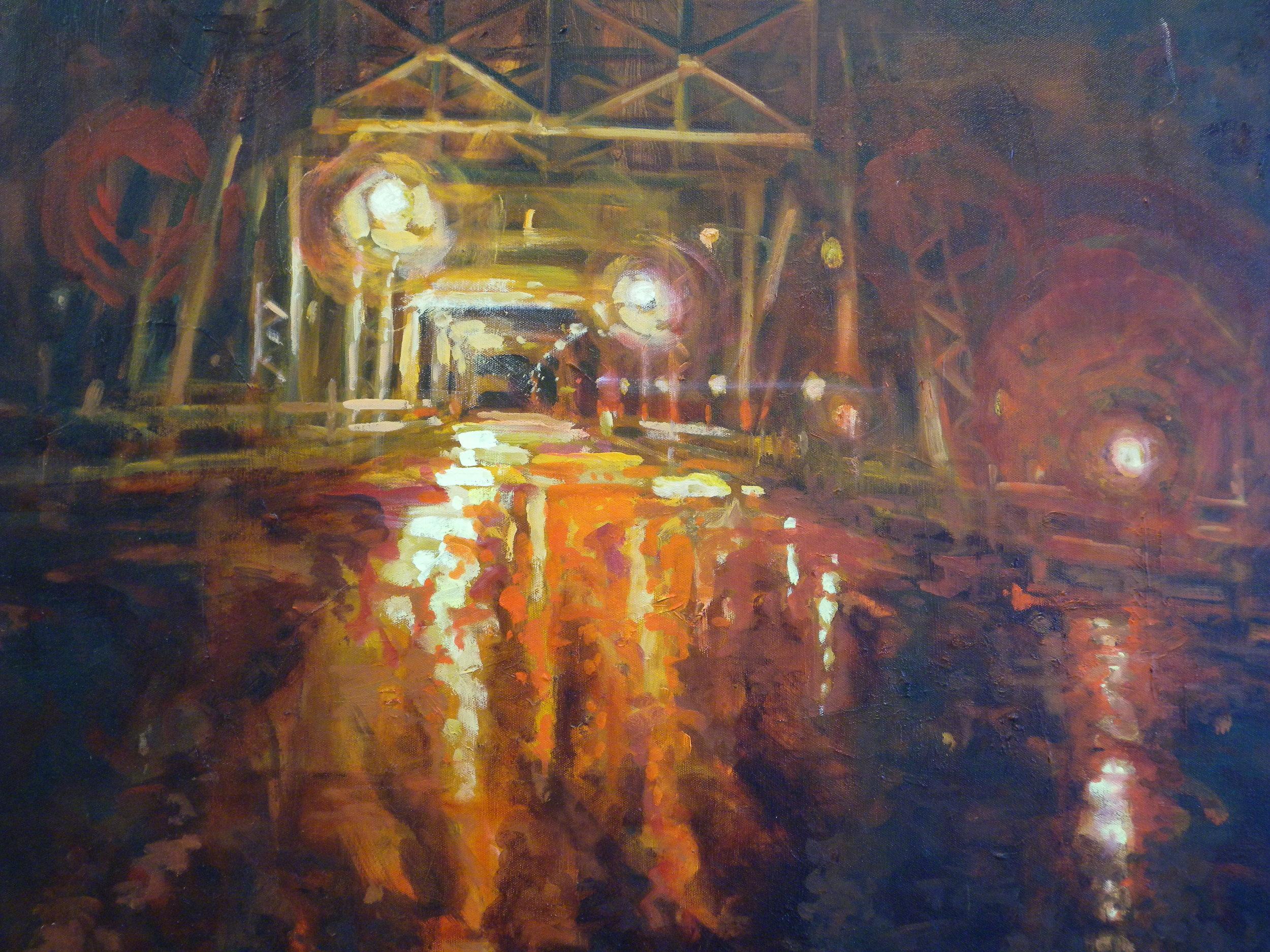 Tim's Crossing, oils, 16 x 20