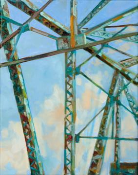Blue Skylight, oil, 9 x 12