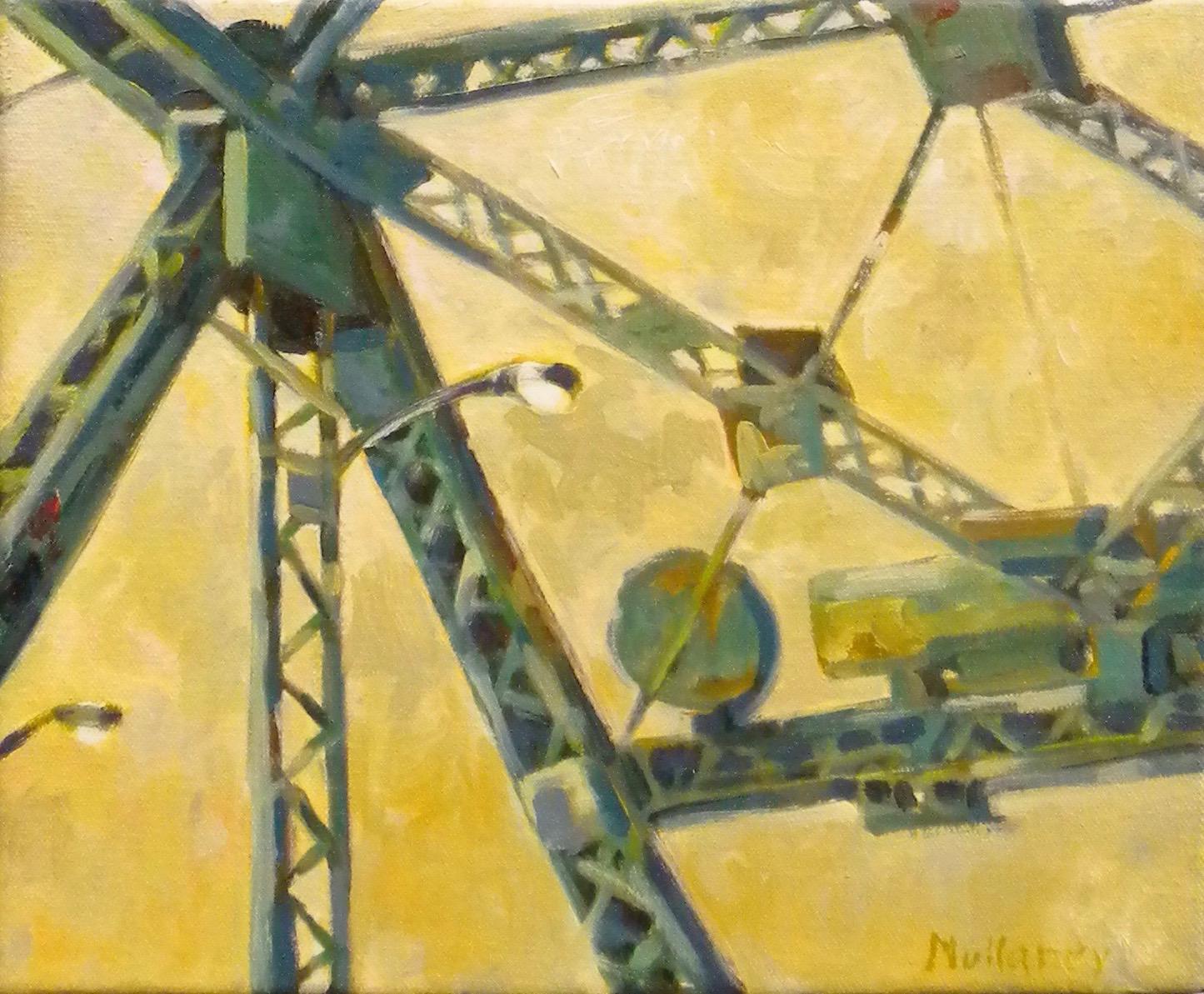 Yellow Skylight, oils, 12 x 12