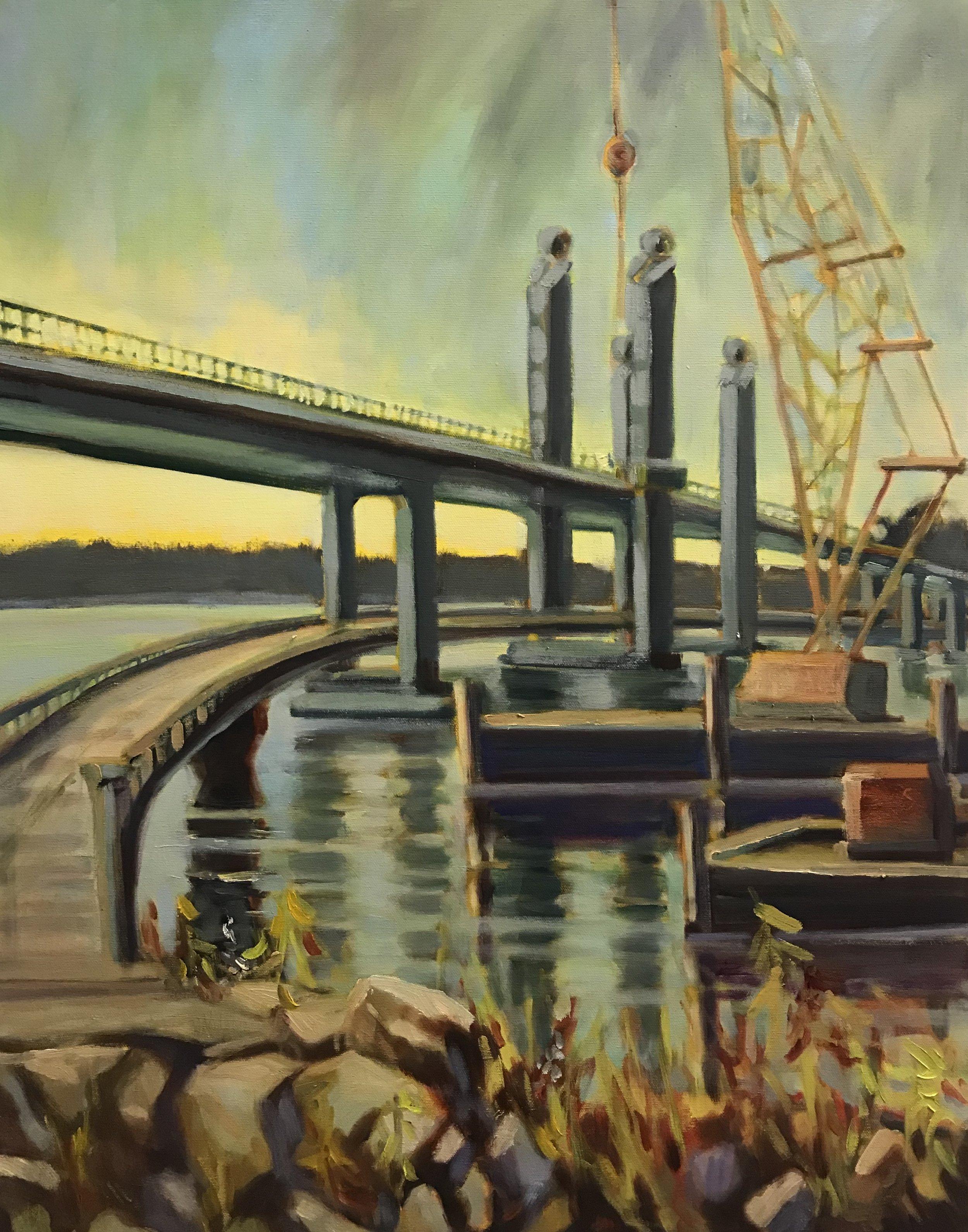 Sarah by Rail oil 22 x 28