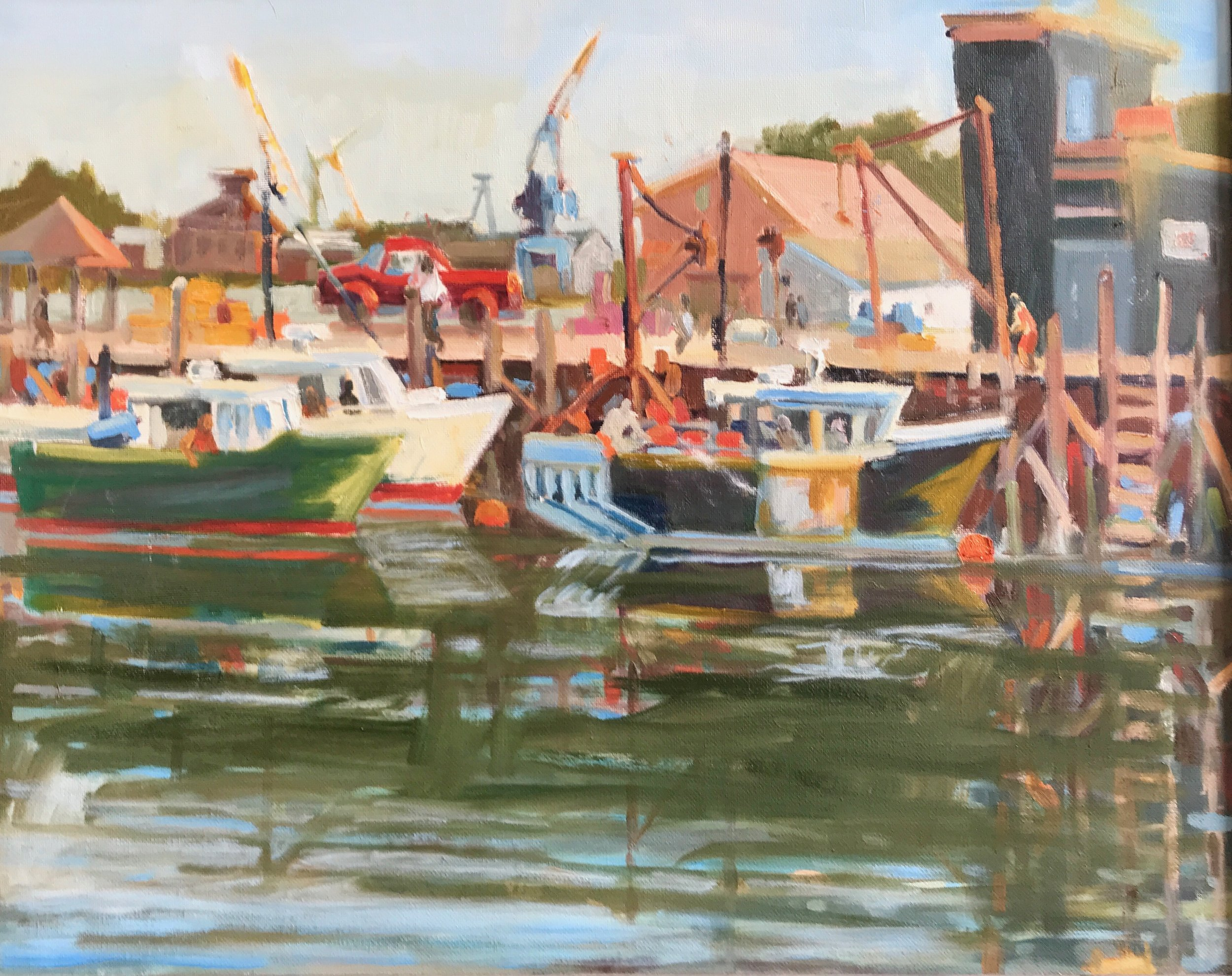 Commercial Fishing oils 16 x 20