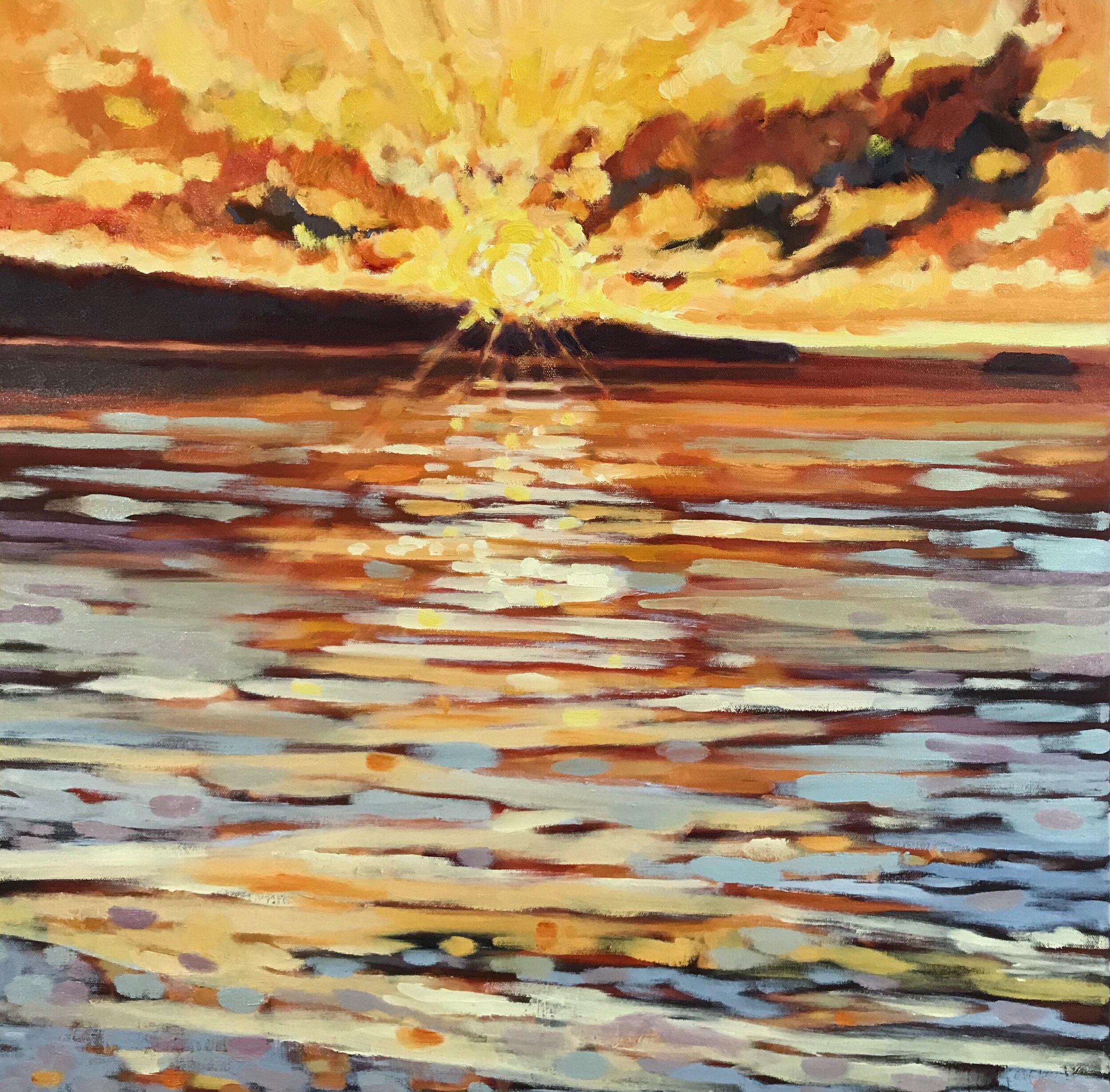 Last Light Kauai oils 24 x 24