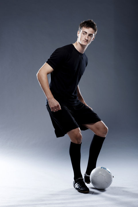 Professional photo-shoot when on the Foxtel TV show 'Football Superstar'