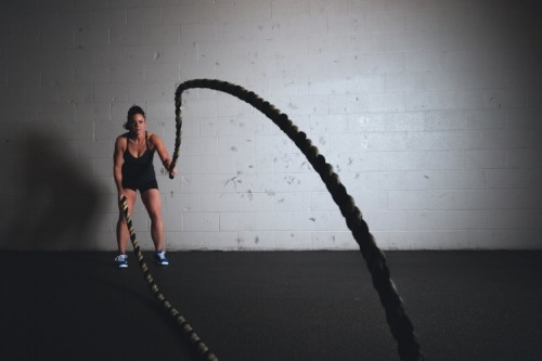 Battling ropes are another great method to get your heart racing!