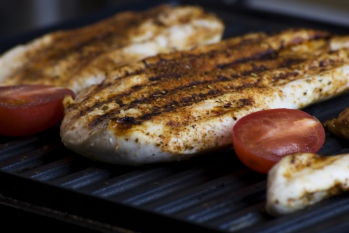 Chicken breast is  HIGH in protein  and  LOW in calories .  Excellent protein choice.