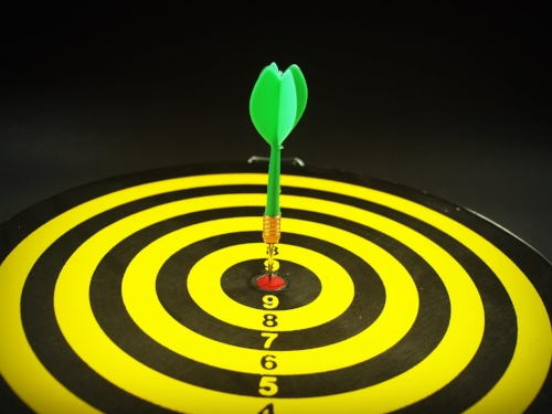 You don't have to hit the bulls-eye.  You just have to be within range of it.