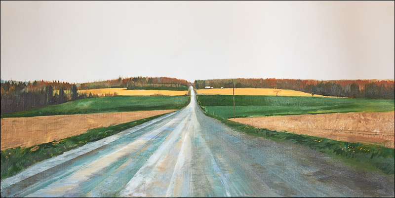 """""""Brown's Hill in Spring"""" - 24"""" x 48"""""""