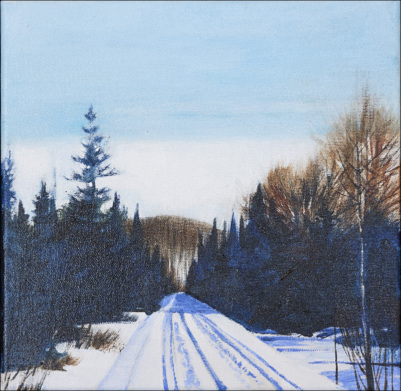 """Trail North Hatley - Lennoxville #2"" - 10"" x 10"""
