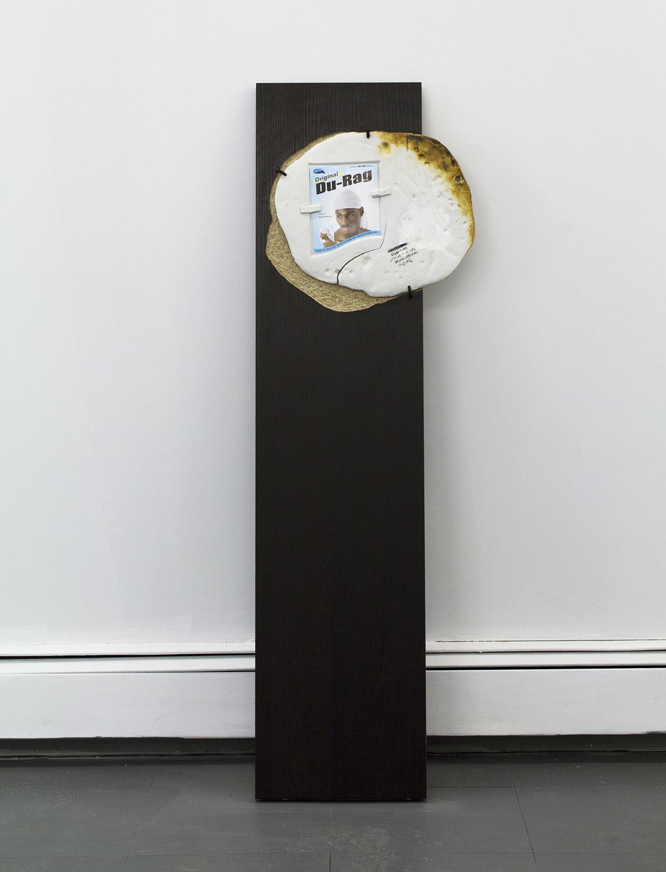 """Duplicitous  2016 Composite wood, Porcelain, Epoxy, Advertisement 47"""" x 16"""" x 2"""""""