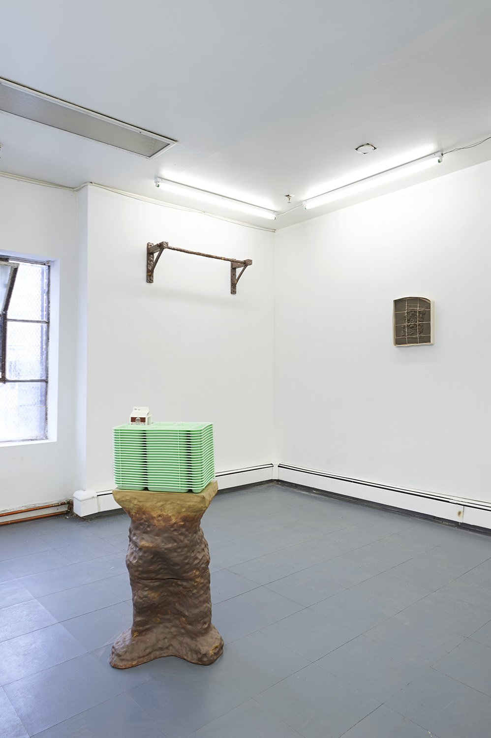 Installation View (Clockwise from top,  Anti-Supremacist Grip Trainer 5000, Southern Recipe, Free/Reduced ) Underdonk (2016)