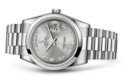 Rolex Day-Date 36mm Platinum 118206  Retail Price: $57,600 Our Price: $50,095   Call for additional savings: 215-922-4367